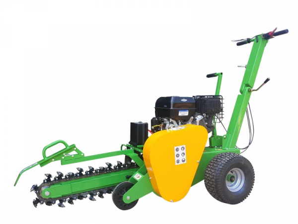 garden trencher cable trencher trench digger GGF-1500 side view